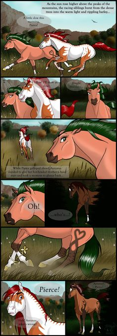 Previous Page: Next Page: FRENCH TRANSLATION: Sorry that this page is so looong. I hope you guys can read it OK! (Remember, top-to-bottom, left-to-right). God, this pissed me off. Horse Drawings, Animal Drawings, Spirit Der Wilde Mustang, Wilde Mustangs, Horse Animation, Horse Cartoon, Horse Story, Anime Furry, Horse Pictures