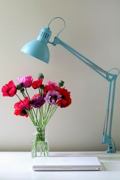 Spray Painted Ikea Lamp...Love Spray Paint and Ikea. Done and Done!