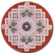 Free Patterns - Hardanger - Christmas Ornament - This ornament would look great on any tree! Design by Roz Watnemo of Nordic Needle, Inc.