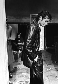 Michael Jackson on the set of Billie Jean