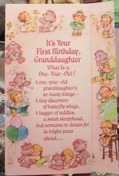 340 best vintage greeting cards images on pinterest in 2018 vtg 1985 care bears granddaughter 1st birthday greeting card 3 panel pink unused birthday greeting cards m4hsunfo