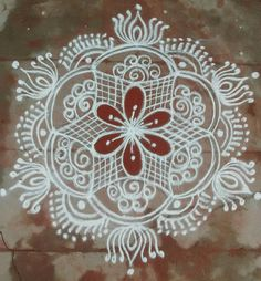 Rangoli Kolam Designs, Rangoli Designs Images, Kolam Rangoli, Flower Rangoli, Beautiful Rangoli Designs, Mehandi Designs, Padi Kolam, Latest Rangoli, Indian Rangoli