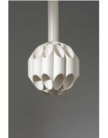 """PHILLIPS : Design, 13 Dec 2007, 2pm New York,Gianni Celada for Fontana Arte  """"Carciofo"""" ceiling light, ca. 1970"""