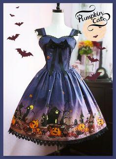 --[-★-Video Review-★-]: Pumpkin Cat ~Halloween Carnival~ Low Waist JSK & Wizard Hat --Watch it here >>> https://www.youtube.com/watch?v=OedvmrttACc