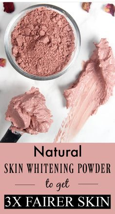 Natural skin whitening powder that can give you 2 to 3 shades fairer skin tone – Skin Care Tips Beauty Tips For Skin, Skin Care Tips, Beauty Hacks, Organic Skin Care, Natural Skin Care, Natural Face, Natural Skin Whitening, Armpit Whitening, Whitening Face
