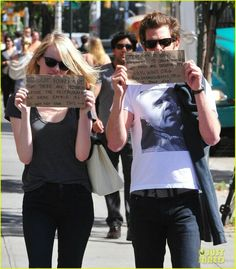 One of my favorite couples~ Emma Stone & Andrew Garfield