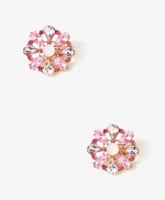 Bejeweled Medallion Clip-Ons | FOREVER21 - 1030241956