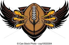 Eagle Football Talons and Claws Vector Illustration -.