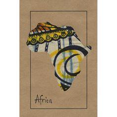africa map/ fabric