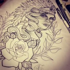 neo traditional drawings - Google Search