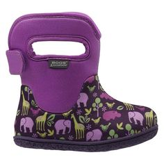 "Classic Animals Baby Bogs Waterproof Boots The kid-friendly handles of the Baby Bogs Classic will have your kids saying, ""I can do this myself!"" 100% waterproof, machine washable, snuggly warm and available in a sea of fun colours and designs. - See more at: http://www.bogsfootwear.co.uk/shop/style/71748I-540.html"