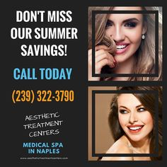 Call today to hear about our summer specials you don't want to miss out!  #AestheticTreatmentCenters #NaplesFL #MedSpa #SummerSpecials