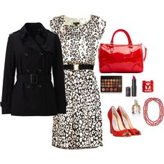 Classic in Black & Red, created by cyderr on Polyvore - wish I could wear heels like this - LOVE the rest.