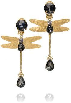 Dragonfly Drop Earring - Lyst