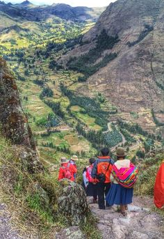 One of the trails at Pisac (Incan ruins) overlooking the Urubamba Valley. A very large site with many different trails and ruins to see. Fairly close to Cusco and Ollantaytambo. Discovered by Michelle Finseth at Royal Inca Pisac, Pisac, Peru