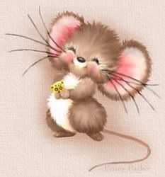 A Mouse By Artist Penny Parker Adorable! Art And Illustration, Illustration Mignonne, Cute Drawings, Animal Drawings, Cartoon Mignon, Penny Parker, Illustrator, Art Fantaisiste, Art Mignon
