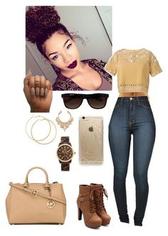 Bam Bam  by paliahna on Polyvore featuring polyvore, fashion, style, MICHAEL Michael Kors, Sea, New York, Michael Kors, H&M, Rifle Paper Co and Vans