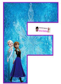 Frozen: Free Elsa and Ana Alphabet. Frozen: Bello Alfabeto Gratis de Elsa y Ana. Frozen Birthday Party, Frozen Tea Party, Frozen 1, Sofia The First Birthday Party, Frozen Movie, Frozen Theme, Frozen Princess, 4th Birthday Parties, Frozen Cupcake Toppers