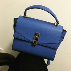 Welcome to my collection!! Enjoying this  beautiful one today!!! 💋💋@henribendel #bendelgirl #youtuber247 #bag #crossbody #style #rocking #handbag #henribendal #blue #beautiful #gorgeous #hot #loveit #bright #mademyday