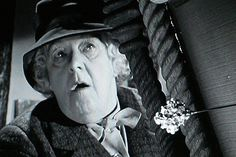Margaret Rutherford as Miss Marple. Her Miss Marple isn't very Marple-y, but she's highly enjoyable.