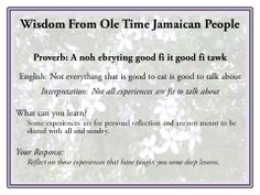 Lessons from Jamaican Proverbs Jamaican Slang, Jamaican Quotes, Jamaican People, Patois Phrases, Jamaican Proverbs, Proverbs 18 21, Power Of The Tongue, Jamaica Jamaica, Knowledge And Wisdom