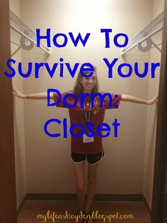 How To Survive Your Dorm Room: Closet | great tips on organizing and sharing a closet