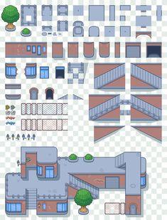 VS Sprite Templates by Magiscarf on DeviantArt Sprites, Pixel Art Background, Cool Pixel Art, Tiles Game, 8 Bit Art, Pixel Art Games, Pixel Design, Videogames, Animation Tutorial