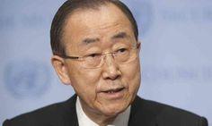 The UN secretary general Ban Ki-moon