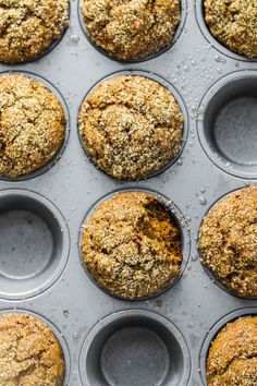 Healthy Gingerbread Muffins made with coconut oil and whole wheat flour. Puffy, cozy, and delicious!