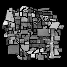 """Parking Lots, by Jenny Odell- a photo made from a """"collection of collections"""" pieced together from Google Sattelite Views."""