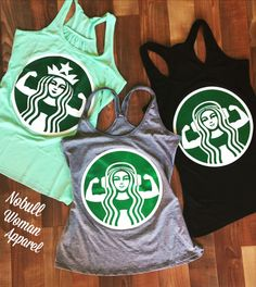The best of both worlds... Coffee and Fitness!! STARBUFF workout tanks by NoBull Woman. Click here to buy http://nobullwoman-apparel.com/collections/fitness-tanks-workout-shirts/products/starbuff-headphones-workout-tank-top-gray