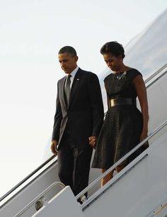 President Barak Obama With 1st Lady Michelle Obama...