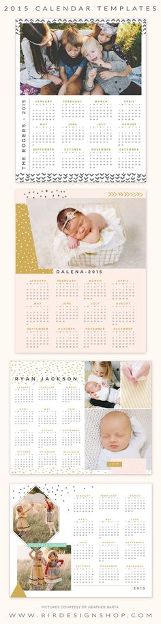 2015 calendar templates - gifts for studio clients