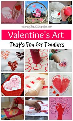 Looking for the best Valentine's art for toddlers? This collection is fun, simple, and perfect for little kids! Teaching 2 and 3 Year Olds