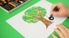 The children's drawing on paper. The accelerated video.   #tree #sketch #line #oak #plant #abstract #grass #isolated #nature #park #background #art #forest #big #trunk #paint #wood #growth #stylized #greenery #green #single #environment #ecology #pattern #creative #cartoon #branch #modern #beautiful #decorative #design #drawing #element #floral #foliage #garden #hatching #illustration #natural #outdoor #season #stain #stem #symbol #verdure #children #child #spring #summer