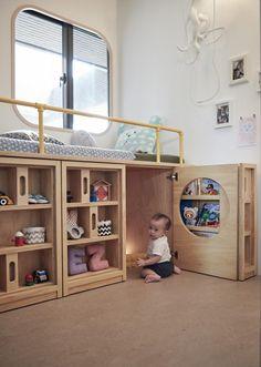 Kids Bedroom Furniture Idea Space Saving Furniture Ideas for Small Kids Room Modern Kids Bedroom, Kids Bedroom Furniture, Space Saving Furniture, Diy Bedroom, Childs Bedroom, Children Furniture, Furniture Ideas, Baby Furniture, Furniture Stores