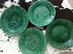 #Victorian Emerald Green Plates #wedgewood #antique