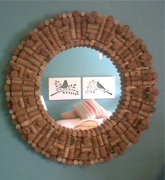 Finally made good on creating something using all those wine corks collected over the years ! Wine Craft, Wine Cork Crafts, Wine Bottle Crafts, Wine Bottle Corks, Bottle Candles, Wine Cork Projects, Cool Diy Projects, Diy Cork, Indoor Crafts