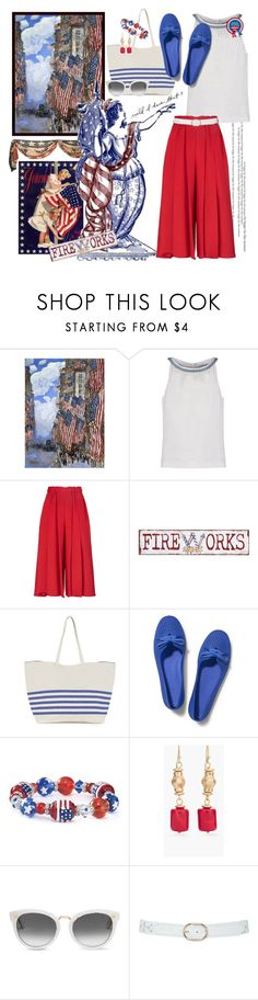 """Lady Liberty updates her Fashion !!"" by kateo ❤ liked on Polyvore featuring 0039 Italy, Victoria Beckham, Pier 1 Imports, Warehouse, Keds, Chico's, TOMS, M&Co and 5756"