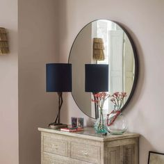 A dramatic round mirror outlined by a slim black frame, this oversized mirror is a striking piece to add contemporary flair to your home. Hang in your hallway for an eye-catching feature. Mantle Mirror, Hallway Mirror, Round Wall Mirror, Round Mirrors, Wall Mirrors, Fashion Kids, Large Circle Mirror, Window Pane Mirror, Mirror Shop