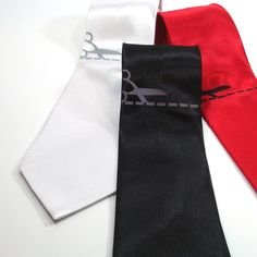 Cut Here Necktie silk necktie in three color choices by projector. $30.00, via Etsy.