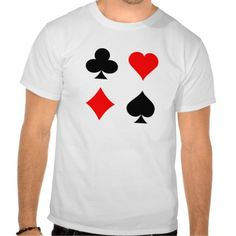 Blackjack / Poker Card Suits: Vector Art: Tshirts (more styles available) #vector #shirt