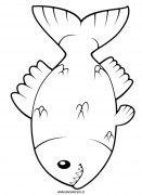 Pesci immagini di animali - disegni da colorare per bambini