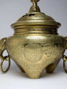 Vintage Chinese mythical beast censer and cover.