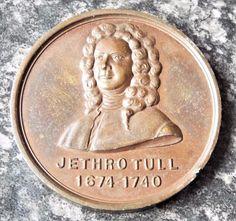 Jethro Tull Agriculturist Antique 1910 Dry Farming Congress Medal / Medallion
