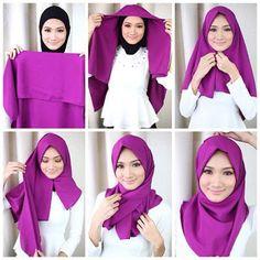 Tutorial Hijab Segi Empat 1