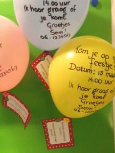 Een bijzondere ballon uitnodiging kinderfeestje