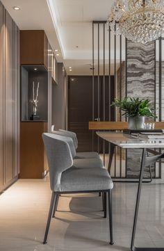 black angel Deco Design / Guan Pin on Behance Living Room Partition Design, Room Partition Designs, Office Interior Design, Luxury Interior, Concours Design, Room Deviders, Column Design, Kitchen Room Design, Bookshelf Design