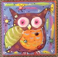 funky owl pictures | Garden Art Stone - Funky Owl - As seen in Birds n Blooms Magazine