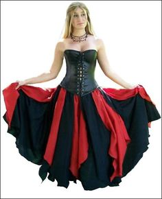 Renaissance Medieval Wench Pirate BellyDance Gypsy Petal Costume Top Skirt PS14 | eBay